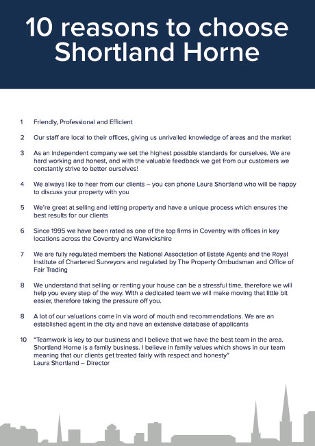 10 reasons to choose shortland horne to sell your property